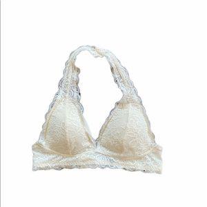 White Lace Halter Bralette